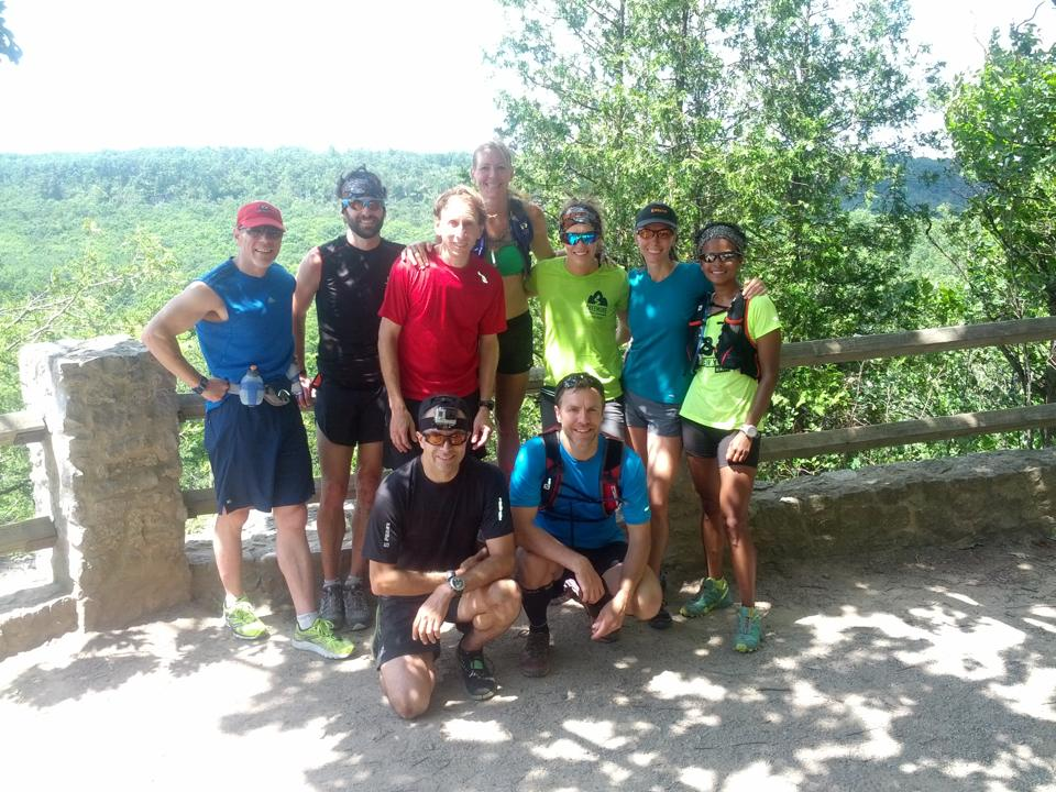 Group shot with some of my favourite trail running friends.